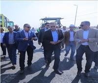 وزير النقل يتفقد أعمال انشاء وتنفيذ طريق داعم للدائري بتكلفة 150 مليون جنيه