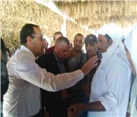 «محافظ شمال سيناء» يتفقد مشروعات قرية الروضة