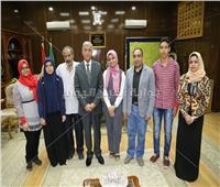 محافظ المنوفية يستقبل المشاركين بمعرض القاهرة الدولي للابتكار