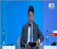 رسالة من رئيس كازاخستان إلى السيسي في منتدى شباب العالم