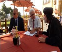 مؤتمر للوفد الفرنسي الأول لزيارة مسار العائلة المقدسة بحديقة الأزهر