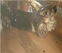 صور  لاعب الإنتاج الحربي يتعرض لحادث مروع