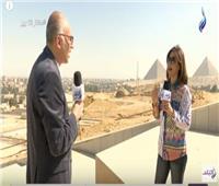 فيديو| طارق توفيق: إنشاء ممشى سياحي بين المتحف الكبير والأهرمات