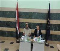 إقبال طلابي على صناديق الاقتراع بانتخابات الاتحادات الطلابية بجامعة المنيا
