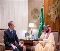 ولي العهد السعودي يلتقي مبعوث رئيسة وزراء بريطانيا