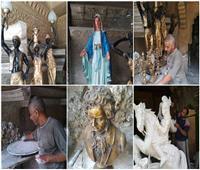 «سامح» نحات بدرجة فنان.. أنتج 90 تمثالًا لعمالقة التاريخ من «العذراء» لـ«بيتهوفن»