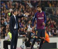 خلاف حاد بين «بيكيه» و«فالفيردي» بعد خسارة برشلونة