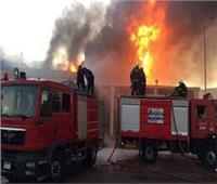 السيطرة علي حريق مصنع أثاث في حي السلام أول دون إصابات