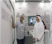 الرياضة والفن يتعانقان بأنامل أحد لاعبي الاولمبياد الخاص في أبو ظبي