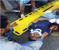 إصابة عامل دليفري في حادث بالشيخ زايد