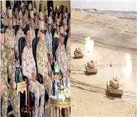 رئيس الأركان يشهد المرحلة الرئيسية للتدريب المشترك «درع العرب – 1»