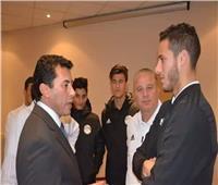 وزير الرياضة يلتقي المنتخب الأولمبي في الإسكندرية