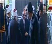 وصول الرئيس السيسي لحضور احتفالية الأوقاف بذكرى المولد النبوي الشريف