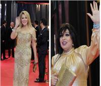 صور| نادية الجندي وفيفي عبده بإطلالة ذهبية في مهرجان القاهرة السينمائي
