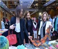 نيللي كريم تشارك في افتتاح معرض ملابس أطفال السجينات الغارمات