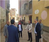 مدير صندوق العشوائيات يتفقد منطقتي عين دار ودرب السندادية بالوادي الجديد