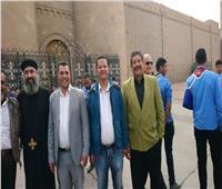 لجنة وفد أسيوط تزور «الدير المحرق» لدعم سياحة مسار العائلة المقدسة