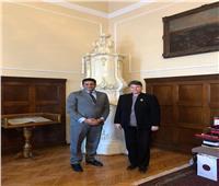 الجويلي يبحث مع رئيس جامعة بلجراد التعاون في دراسات الشرق الأوسط