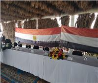 مؤتمر صحفي لوزيرا الأوقاف والتنمية المحلية ببئر العبد بشمال سيناء