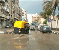 صور  أمطار غزيرة وتوقف حركة الصيد بكفر الشيخ