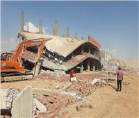 بالصور| حملة مكبرة لإزالة 9 مباني مخالفة بالشروق