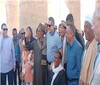 وزير الآثار ومحافظ الآقصر يتفقدان أعمال ترميم معبد «الرامسيوم»