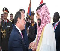 ولي عهد السعودية يصل القاهرة.. والسيسي يستقبله بالمطار
