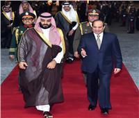 صور  محمد بن سلمان في ضيافة الرئيس السيسي