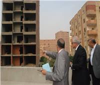 محافظ الجيزة يقطع جولته لإزالة برج مخالف بحرم الدائري بالعمرانية