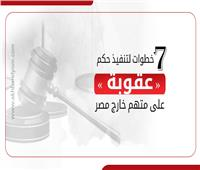 إنفوجراف| 7 خطوات لتنفيذ حكم على متهم خارج مصر