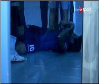 """فيديو  تفاصيل إصابة كينو بسبب """"تحطم زجاج"""" في ملعب بتروسبورت"""