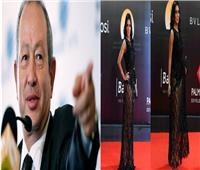 نجيب ساويرس يعلق عن فستان رانيا يوسف بمهرجان القاهرة