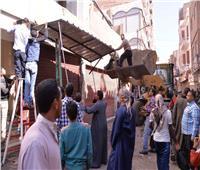 تحرير 240 محضر إشغالات بمركز صدفا في أسيوط