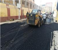 أسيوط تواصل أعمال تطوير الشوارع والميادين
