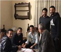 صور  لحظة توقيع محمد محمود وافد الأهلي الجديد