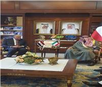 شكرى يعقد مُباحثات ثنائية مع نظيره الكويتي على هامش أعمال الدورة المصرية الكويتية المشتركة
