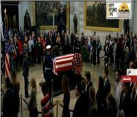 بالفيديو| جثمان جورج بوش الأب في مبنى الكابيتول بواشنطن