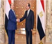 السيسي يبحث مع هادي تطورات الأوضاع في اليمن