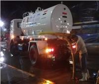 محافظ الجيزة يقود عمليات شفط مياه الأمطار من الشوارع