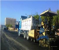 الانتهاء من 75% من أعمال الرصف بحي الكوثر بسوهاج