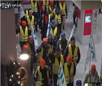 فيديو  شلل حركة القطارات بألمانيا بسبب إضراب عمال السكك الحديدية