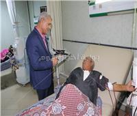 محافظ المنوفية يطمئن على الخدمات الطبية بمستشفى الباجور العام