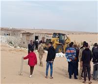 إزالة تعديات على 148 فدانا ببئر العبد في سيناء