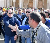 صور| «الرئاسة»: السيسي يتفقد عدد من المشروعات بالعاصمة الإدارية الجديدة وقطاع الطرق والنقل