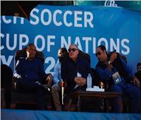 صور| أبو ريدة وأحمد أحمد في شرم الشيخ لحضور نهائي الكرة الشاطئية