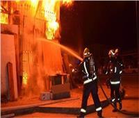 السيطرة على حريق ضخم نشب في سوبر ماركت بالبساتين
