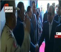 فيديو| لحظة وصول الرئيس السيسي لافتتاح عدد من المشروعات القومية