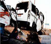 مصرع وإصابة 12 في حادث تصادم سيارتين بالفيوم