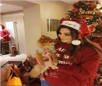 إليسا تحتفل بـ «الكريسماس» بملابس «بابا نويل»| صور