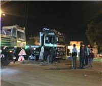 انقلاب مقطورة «علف مواشي» بمدخل مدينة الإسماعيلية